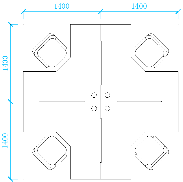 屏风桌子平面图